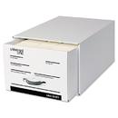 Universal UNV85301 Heavy-Duty Storage Box Drawer, Legal, 17 1/4 X 25 1/2 X 11, White, 6/carton