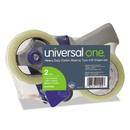 Universal UNV91002 Heavy-Duty Box Sealing Tape W/dispenser, 48mm X 54.8m, 3