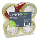 Universal UNV91004 Heavy-Duty Box Sealing Tape W/dispenser, 48mm X 54.8m, 3