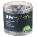 UNIVERSAL PRODUCTS UNV95001 Vinyl-Coated Wire Paper Clips, No. 1, Assorted Colors, 500/pack
