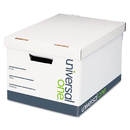 Universal UNV95221 Lift-Off Lid File Storage Box, Legal, Fiberboard, White, 12/carton