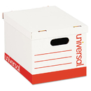 UNIVERSAL PRODUCTS UNV95223 Economy Storage Box, Lift-Off Lid, Letter/legal. White, 12/ct