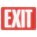 Headline Sign USS4792 Glow In The Dark Sign, 8 X 12, Red Glow, Exit