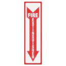Headline Sign USS4793 Glow In The Dark Sign, 4 X 13, Red Glow, Fire Extinguisher