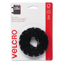 VELCRO USA, INC. VEK90089 Sticky-Back Hook And Loop Dot Fasteners, 5/8 Inch, Black, 75/pack