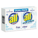 all 1R-2979355 Free Clear HE Liquid Laundry Detergent/Dryer Sheet Dual Vend Pack, 100/Ctn