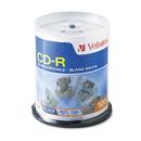 Verbatim VER94712 Cd-R Discs, 700mb/80min, 52x, Spindle, White, 100/pack