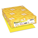 Neenah Paper WAU21011 Color Paper, 24lb, 8 1/2 X 11, Lift-Off Lemon, 500 Sheets