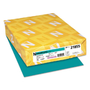 Neenah Paper WAU21855 Colored Card Stock, 65lb, 8 1/2 X 11, Terrestrial Teal, 250 Sheets