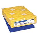 Neenah Paper WAU21911 Colored Card Stock, 65lb, 8 1/2 X 11, Blast-Off Blue, 250 Sheets
