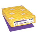 Neenah Paper WAU21961 Color Paper, 24lb, 8 1/2 X 11, Gravity Grape, 500 Sheets