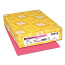 WAUSAU PAPERS WAU22119 Color Paper, 24lb, 8 1/2 X 11, Plasma Pink, 500 Sheets