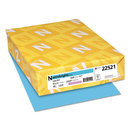 WAUSAU PAPERS WAU22521 Color Paper, 24lb, 8 1/2 X 11, Lunar Blue, 500 Sheets