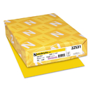 WAUSAU PAPERS WAU22531 Color Paper, 24lb, 8 1/2 X 11, Solar Yellow, 500 Sheets
