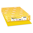 Neenah Paper WAU22533 Color Paper, 24lb, 11 X 17, Solar Yellow, 500 Sheets