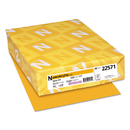 WAUSAU PAPERS WAU22571 Color Paper, 24lb, 8 1/2 X 11, Galaxy Gold, 500 Sheets