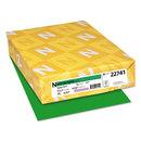 WAUSAU PAPERS WAU22741 Colored Card Stock, 65lb, 8 1/2 X 11, Gamma Green, 250 Sheets
