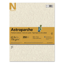 Neenah Paper WAU26428 Astroparche Specialty Card Stock, 65lb, 8 1/2 X 11, Natural, 250 Sheets