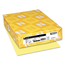 WAUSAU PAPERS WAU82331 Exact Vellum Bristol Cover Stock, 67lb, 8 1/2 X 11, Yellow, 250 Sheets