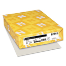 WAUSAU PAPERS WAU82341 Exact Vellum Bristol Cover Stock, 67lb, 8 1/2 X 11, Gray, 250 Sheets