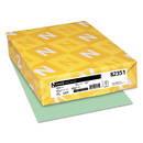 WAUSAU PAPERS WAU82351 Exact Vellum Bristol Cover Stock, 67lb, 8 1/2 X 11, Green, 250 Sheets