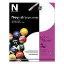 Neenah Paper WAU91904 Card Stock, 65lb, 96 Bright, 8 1/2 X 11, White, 250 Sheets