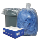 Webster WBI404616C Clear Low-Density Can Liners, 40-45gal, .63 Mil, 40 X 46, Clear, 250/carton