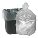 WEBSTER INDUSTRIES WBIGNT2424 High Density Waste Can Liners, 7-10gal, 6mic, 24 X 23, Natural, 1000/carton