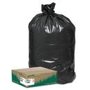 Earthsense WBIRNW1TL80 Recycled Large Trash And Yard Bags, 33gal, .9mil, 32.5 X 40, Black, 80/carton