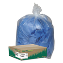 Earthsense WBIRNW4615C Clear Recycled Can Liners, 40-45gal, 1.5mil, Clear, 100/carton