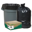 WEBSTER INDUSTRIES WBIRNW6060 Recycled Can Liners, 55-60gal, 1.65mil, 38 X 58, Black, 100/carton
