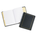 ACCO BRANDS WLJ039511 Looseleaf Minute Book, Black Leather-Like Cover, 250 Unruled Pages, 8 1/2 X 11
