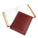 ACCO BRANDS WLJ039611 Looseleaf Minute Book, Red Leather-Like Cover, 250 Unruled Pages, 8 1/2 X 11