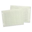 ACCO BRANDS WLJG5012 Accounting Sheets, 12 Columns, 11 X 17, 100 Loose Sheets/pack, Green