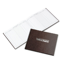 ACCO BRANDS WLJS490 Visitor Register Book, Red Hardcover, 112 Ruled Pages, 8 1/2 X 11