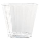 WNA WNACC9240 Classic Crystal Plastic Tumblers, 9 Oz., Clear, Fluted, Squat, 12/pack