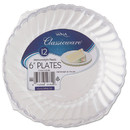 WNA WNARSCW61512 Classicware Plastic Plates, 6
