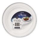 WNA RSMP91210WS Masterpiece Plastic Plates, 9 in, White w/Silver Accents, Round, 120/Carton