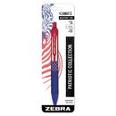 Zebra 21721 Orbitz Retractable Ballpoint Pen, Medium, 1 mm, Blue Ink, Blue Barrel