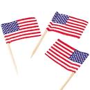 U.S. Toy 18 Us Flag Picks / 144 Pc