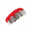 U.S. Toy 4107 Silver Bling Teeth Grill Costume Accessory