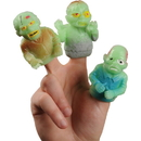 U.S. Toy 4407 GID Zombie Finger Puppets