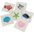 U.S. Toy 673 Coral Reef Tattoos
