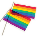 U.S. Toy D30 Plastic Rainbow Flag