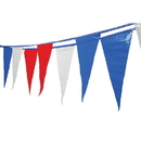 U.S. Toy GS16 Red-White-Blue Pennant Flag Strands