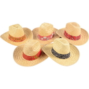 U.S. Toy H144 Woven High Crown Cowboy Hat with Bandana Trim