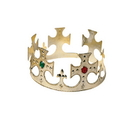 U.S. Toy H178 Plastic King Crown with Jewels