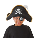 U.S. Toy H253 Skull and Crossed Swords Pirate Hat with Feather