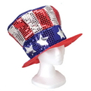 U.S. Toy H257 Sequin Uncle Sam Hat