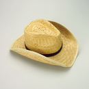 U.S. Toy H348 Rolled Brim Woven Straw Cowboy Hat